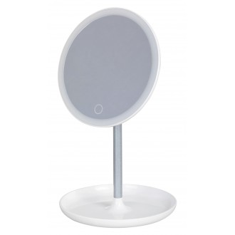 RABALUX 4539 | Misty Rabalux stolna svjetiljka 20,3cm sa dodirnim prekidačem jačina svjetlosti se može podešavati, USB utikač, elementi koji se mogu okretati 1x LED 200lm 6000K bijelo, zrcalo