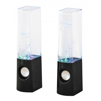 RABALUX 4540 | Xander Rabalux dekoracija svjetiljka zvučnik, promjenjive boje, USB utikač 1x LED RGBK crno, prozirno