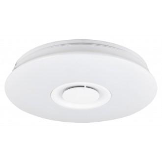 RABALUX 4541 | Murry Rabalux stropne svjetiljke svjetiljka okrugli daljinski upravljač zvučnik, jačina svjetlosti se može podešavati, promjenjive boje, sa podešavanjem temperature boje 1x LED 1440lm + 1x LED 3000 <-> 6000K bijelo