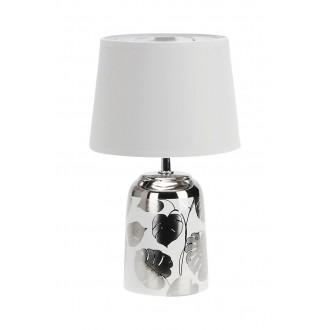 RABALUX 4548 | Sonal Rabalux stolna svjetiljka 30cm sa prekidačem na kablu 1x E14 srebrno, bijelo