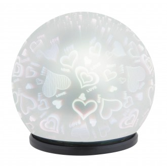 RABALUX 4551 | LailaR Rabalux dekoracija svjetiljka 1x LED 50lm 6500K crno, krom, 3D effect