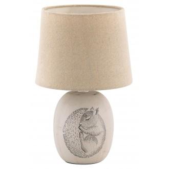 RABALUX 4605 | Dorka Rabalux stolna svjetiljka 29cm sa prekidačem na kablu 1x E14 plavo, bijelo