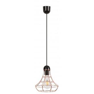 RABALUX 4650 | Ramsey Rabalux visilice svjetiljka 1x E27 crveni bakar, crno