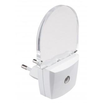 RABALUX 4659 | Paris-lux Rabalux orientciona rasvjeta svjetiljka svjetlosni senzor - sumračni prekidač utična svjetiljka 1x LED 1,2lm 4000K bijelo, prozirno, ružičasto