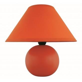 RABALUX 4904   Ariel Rabalux stolna svjetiljka 19cm sa prekidačem na kablu 1x E14 narančasto