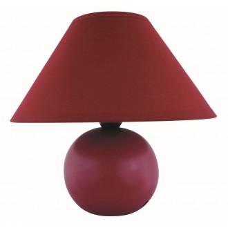 RABALUX 4906 | Ariel Rabalux stolna svjetiljka 19cm sa prekidačem na kablu 1x E14 bordo