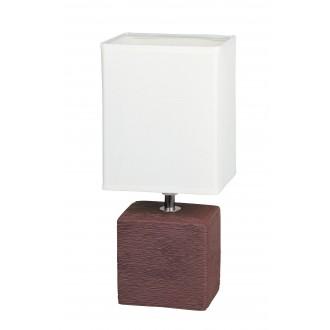 RABALUX 4928 | OrlandoR Rabalux stolna svjetiljka 30cm sa prekidačem na kablu 1x E14 venga, bezbojno