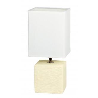 RABALUX 4929 | OrlandoR Rabalux stolna svjetiljka 30cm sa prekidačem na kablu 1x E14 krem, bezbojno