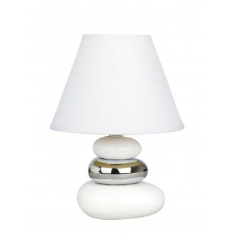 RABALUX 4949 | Salem Rabalux stolna svjetiljka 25cm sa prekidačem na kablu 1x E14 bijelo, srebrno