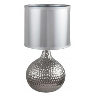 RABALUX 4978 | Rozin Rabalux stolna svjetiljka 36,5cm sa prekidačem na kablu 1x E14 krom, srebrno