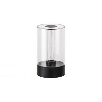 RABALUX 5006 | Sajan Rabalux stolna svjetiljka 15,5cm sa tiristorski dodirnim prekidačem jačina svjetlosti se može podešavati 1x LED 80lm 3000K crno, prozirno