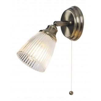 RABALUX 5014 | Martha-RA Rabalux spot svjetiljka s poteznim prekidačem elementi koji se mogu okretati 1x E14 antik brončano, prozirno