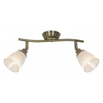 RABALUX 5015 | Martha-RA Rabalux spot svjetiljka elementi koji se mogu okretati 2x E14 antik brončano, prozirno