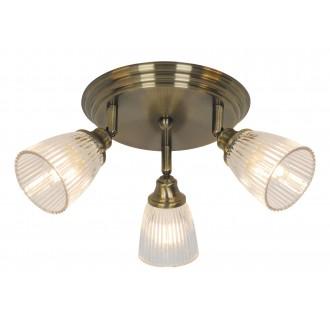 RABALUX 5016 | Martha-RA Rabalux spot svjetiljka elementi koji se mogu okretati 3x E14 antik brončano, prozirno