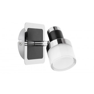 RABALUX 5021   Harold Rabalux spot svjetiljka elementi koji se mogu okretati 1x LED 400lm 4000K IP44 krom, crno, opal