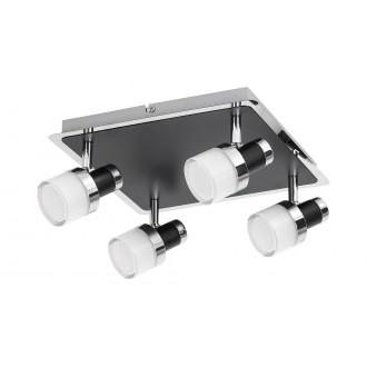 RABALUX 5024 | Harold Rabalux spot svjetiljka elementi koji se mogu okretati 1x LED 1600lm 4000K IP44 krom, crno, opal
