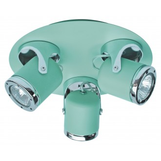 RABALUX 5035 | April-RA Rabalux spot svjetiljka elementi koji se mogu okretati 3x GU10 menta, krom