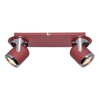 RABALUX 5038 | April-RA Rabalux spot svjetiljka elementi koji se mogu okretati 2x GU10 crveno, krom