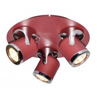 RABALUX 5039 | April-RA Rabalux spot svjetiljka elementi koji se mogu okretati 3x GU10 crveno, krom