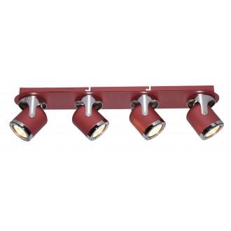 RABALUX 5040 | April-RA Rabalux spot svjetiljka elementi koji se mogu okretati 4x GU10 crveno, krom