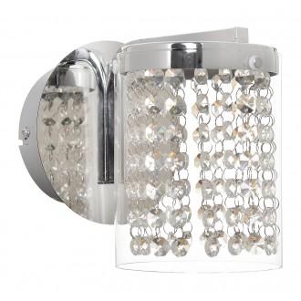 RABALUX 5041 | Astrella Rabalux zidna svjetiljka 1x LED 450lm 4000K krom, prozirno, kristal