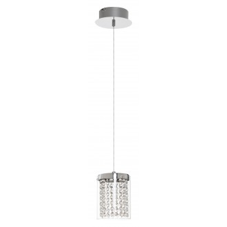 RABALUX 5043 | Astrella Rabalux visilice svjetiljka 1x LED 450lm 4000K krom, prozirno, kristal