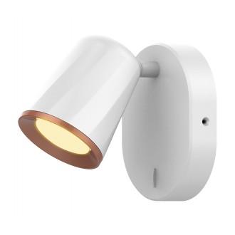 RABALUX 5045 | Solange Rabalux spot svjetiljka s prekidačem elementi koji se mogu okretati 1x LED 380lm 3000K bijelo, zlatno
