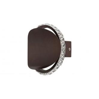 RABALUX 5049 | Capriana Rabalux zidna svjetiljka 1x LED 480lm 4000K metalik smeđe, kristal