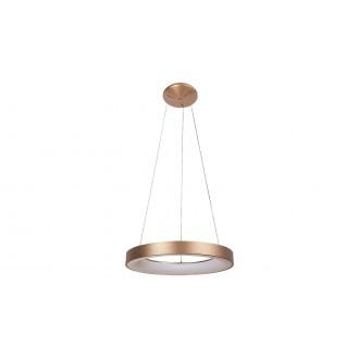 RABALUX 5055 | Carmella Rabalux visilice svjetiljka okrugli 1x LED 6335lm 4000K zlatno, bijelo