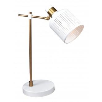 RABALUX 5090 | Alberta Rabalux stolna svjetiljka 42,5cm sa prekidačem na kablu elementi koji se mogu okretati 1x E27 zlatno, bijelo