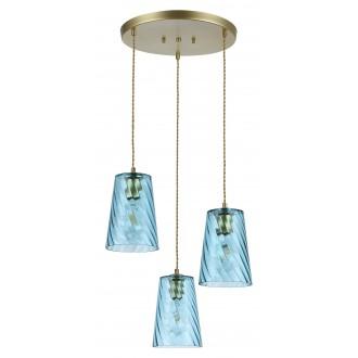 RABALUX 5227 | Azurine Rabalux visilice svjetiljka 3x E27 zlatno, plavo
