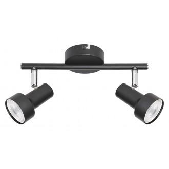 RABALUX 5323 | Konrad Rabalux spot svjetiljka elementi koji se mogu okretati 2x GU10 crno, krom