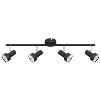 RABALUX 5325 | Konrad Rabalux spot svjetiljka elementi koji se mogu okretati 4x GU10 crno, krom