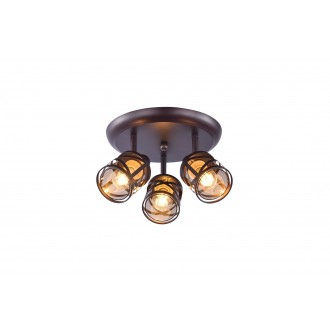 RABALUX 5337 | Oberon-RA Rabalux spot svjetiljka elementi koji se mogu okretati 3x E14 kafena, jantar