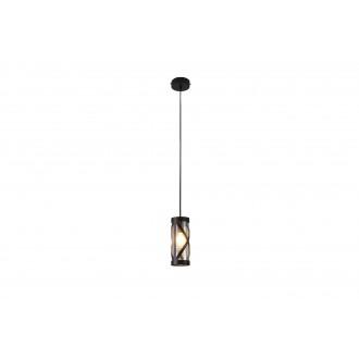 RABALUX 5338 | Oberon-RA Rabalux visilice svjetiljka 1x E14 kafena, jantar
