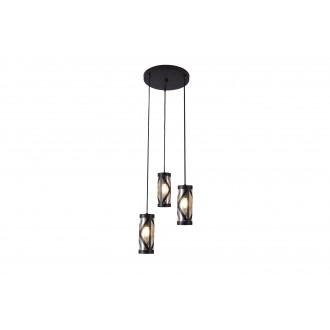 RABALUX 5339 | Oberon-RA Rabalux visilice svjetiljka 3x E14 kafena, jantar