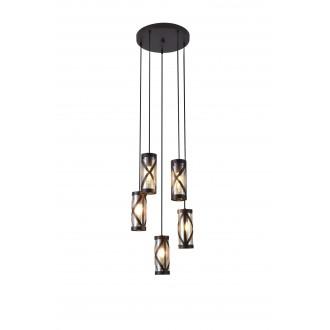 RABALUX 5340 | Oberon-RA Rabalux visilice svjetiljka 5x E14 kafena, jantar