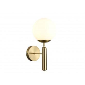 RABALUX 5351 | Divina-RA Rabalux zidna svjetiljka 1x E14 zlatno, bijelo