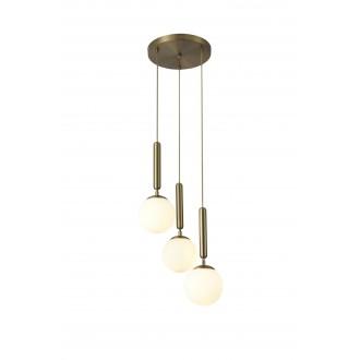 RABALUX 5353 | Divina-RA Rabalux visilice svjetiljka 3x E14 zlatno, bijelo
