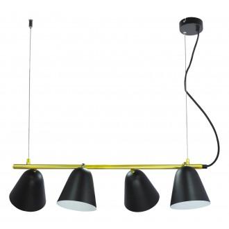 RABALUX 5377 | Alder Rabalux visilice svjetiljka elementi koji se mogu okretati 4x E14 crno, zlatno, bijelo