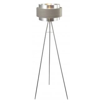 RABALUX 5385 | Basil Rabalux podna svjetiljka 150cm sa nožnim prekidačem 1x E27 krom saten, sivo