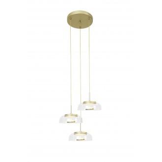 RABALUX 5393 | Lorell Rabalux visilice svjetiljka 1x LED 2000lm 3000K zlatno, prozirno