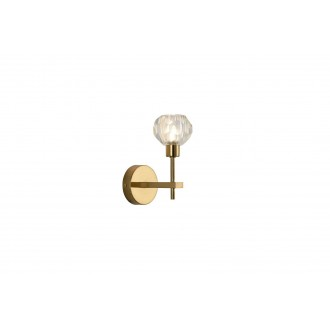 RABALUX 5394 | Kassia-RA Rabalux zidna svjetiljka 1x G9 zlatno, kristal
