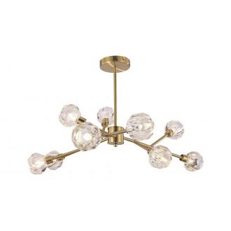 RABALUX 5395 | Kassia-RA Rabalux stropne svjetiljke svjetiljka 9x G9 zlatno, kristal