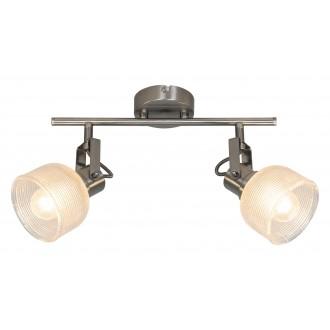 RABALUX 5438 | Francis-RA Rabalux spot svjetiljka elementi koji se mogu okretati 2x E14 krom saten, prozirno