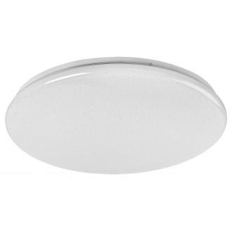 RABALUX 5445 | Danny Rabalux stropne svjetiljke svjetiljka okrugli daljinski upravljač jačina svjetlosti se može podešavati, sa podešavanjem temperature boje, timer 1x LED 3000lm 3000 <-> 6500K bijelo, svjetlucavi