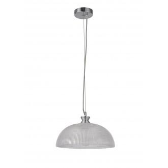 RABALUX 5459 | Petrina Rabalux visilice svjetiljka 1x E27 krom saten, prozirno