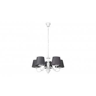 RABALUX 5480 | Flavio-RA Rabalux luster svjetiljka 5x E14 bijelo, sivo