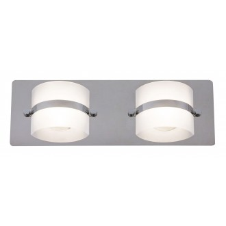 RABALUX 5490 | TonyR Rabalux zidna svjetiljka 2x LED 730lm 4000K IP44 krom, opal