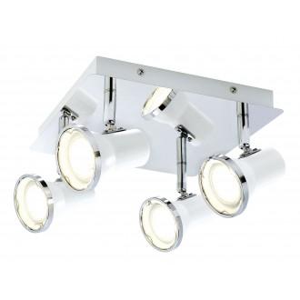 RABALUX 5500 | Steve Rabalux spot svjetiljka elementi koji se mogu okretati 4x GU10 1720lm 4000K IP44 bijelo, krom